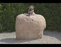 Findling 400 - Solitärfindlinge für Gärten,Findling mit Figur