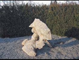 Findling 453 - Gestaltungsstein,Showstone,Wasserfindling