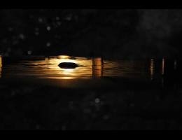Findling 396 - Wasserfindling,Wasserfindling mit Licht