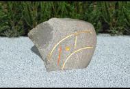 Findling 148 - Gestaltungsstein,Symbolfindling