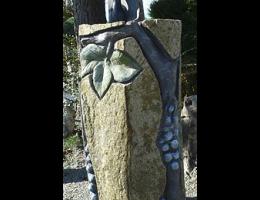 Findling 961 - Solitärfindlinge für Gärten,Grabsteine,Kunstform,Skulpturen aus Stein