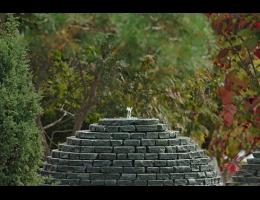 Findling 201 - Kunstform mit Wasser,Skulpturen aus Stein,Wasserfindling