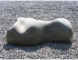 Solitärfindlinge für Gärten,Raritäten,Showstone,Skulpturen aus Stein - Findling 594