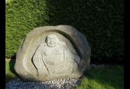 Findling 1159 - Geschenkideen,Kunst am Stein,Raritäten,Showstone,Skulpturen aus Stein,Solitärfindlinge für Gärten