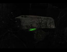 Wasserfindling,Wasserfindling mit Licht - Findling 419